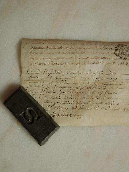 1777年の古文書