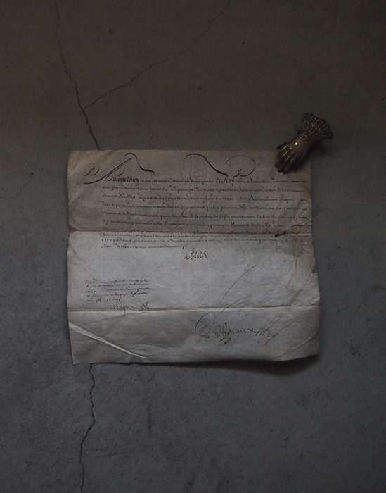 1743年の羊皮紙に書かれた古文書