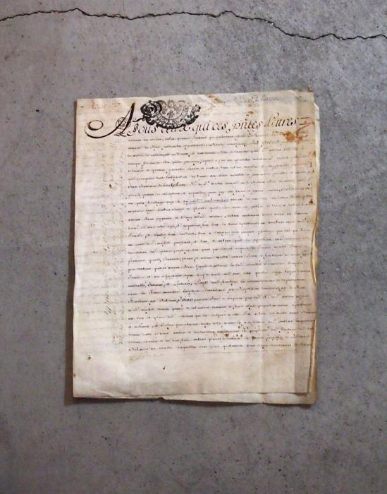1717年の羊皮紙に書かれた古文書