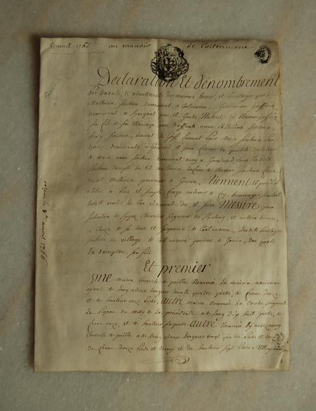 1766年の古文書