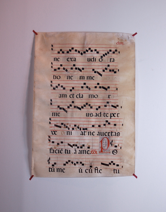 16世紀のグレゴリオ聖歌の楽譜