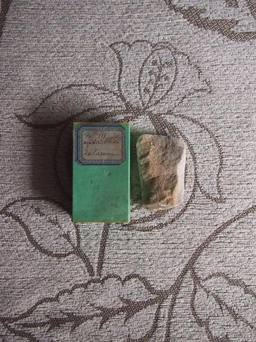古い鉱物標本 6 Marbre blanc