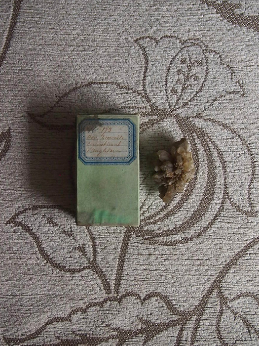 古い鉱物標本 5 Fer Limonite