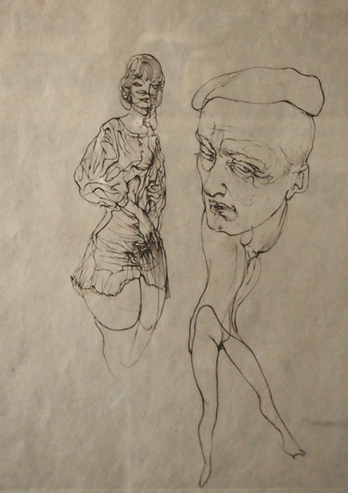 Hans Bellmer版画 The man with the cap