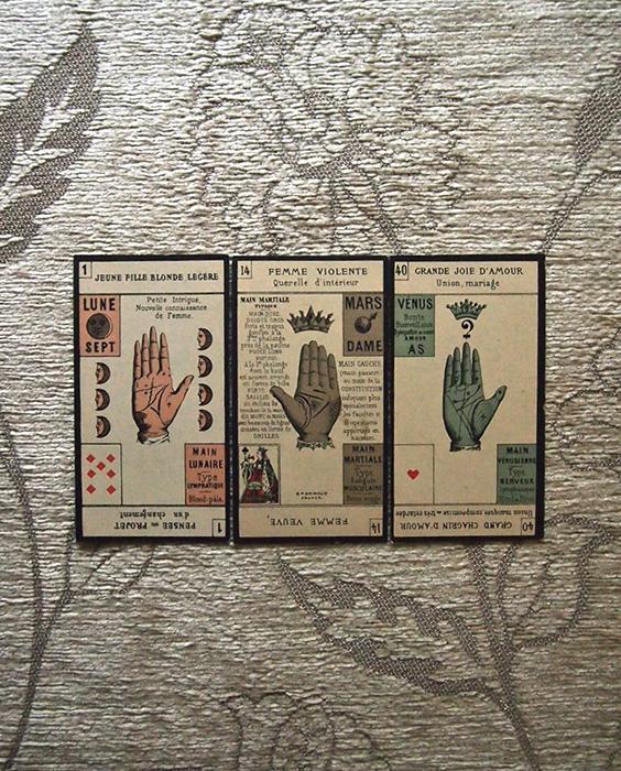 手のカード Jeu de la main