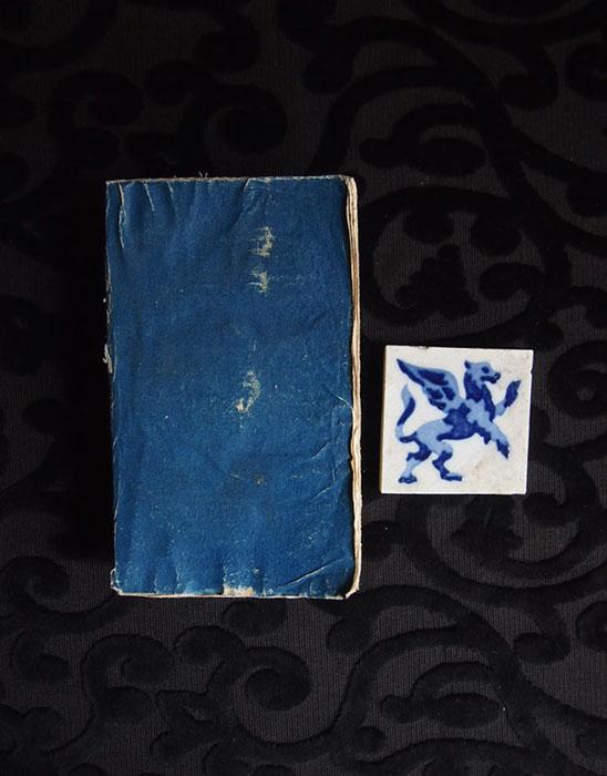 青い本とグリフォンのタイル 1