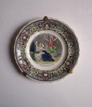 Creil et Montereau クレイユ & モントローの天使の絵皿