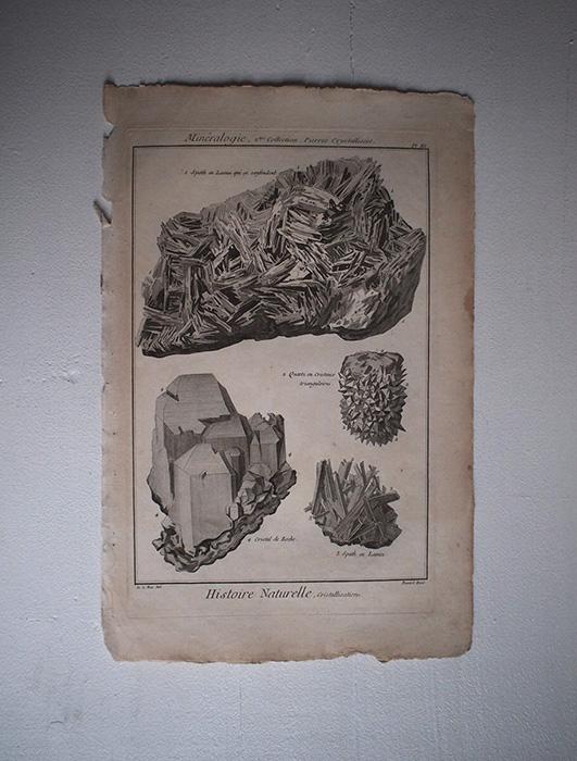 鉱物版画 Histoire Naturelle , Cristallisations 1
