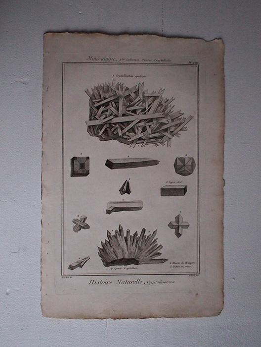 鉱物版画 Histoire Naturelle , Cristallisations 3