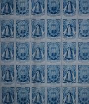 古い護符のシート Bleu