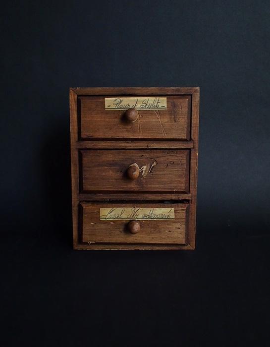 小さな木箱 1 海の物の引き出し