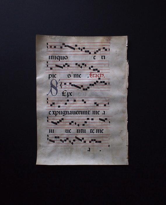 羊皮紙に書かれたネウマ譜 4
