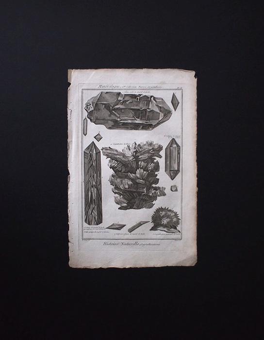 鉱物版画 Histoire Naturelle , Cristallisations 4