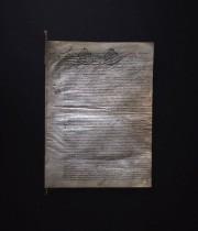 1783年の羊皮紙に書かれた古文書