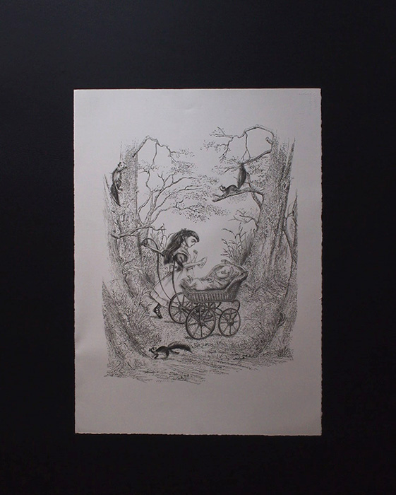金子國義 不思議の国のアリス『 The singing cook 』