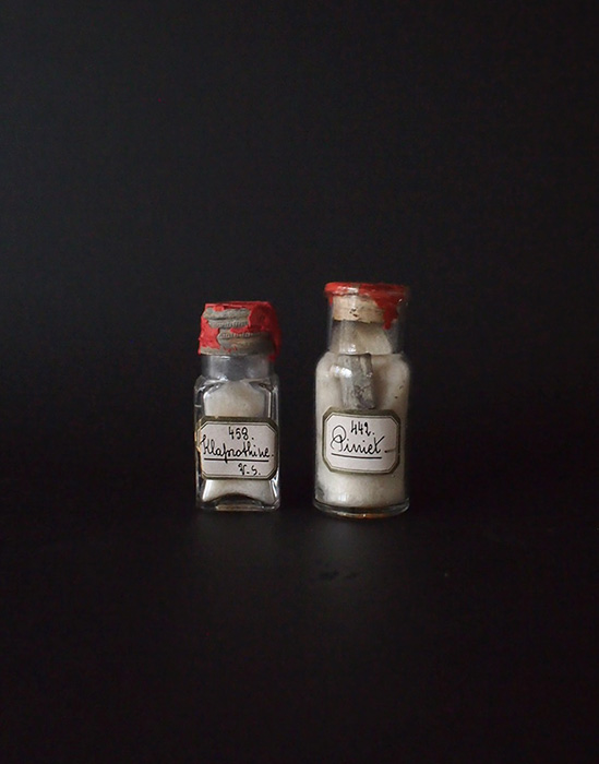 鉱物入りガラス瓶 2本