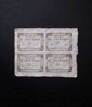 アッシニア紙幣 100フラン