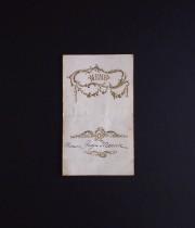 アンヴァンテール メニュー・カード B