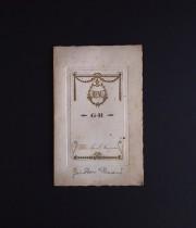 アンヴァンテール メニュー・カード A