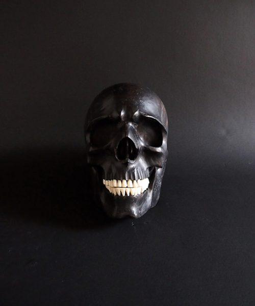 黒檀の頭蓋骨 B