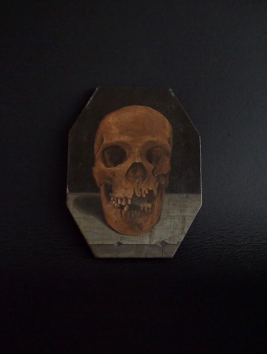 髑髏の板絵