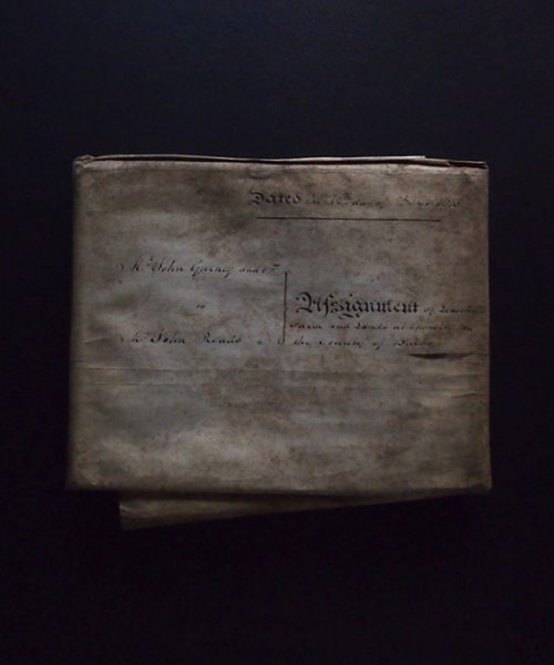 綴じられた羊皮紙