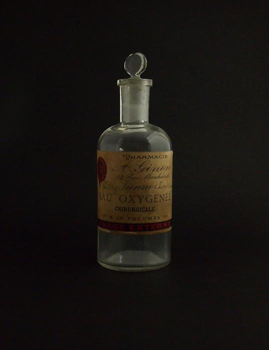 古い薬瓶 EAU OXYGÉNÉE