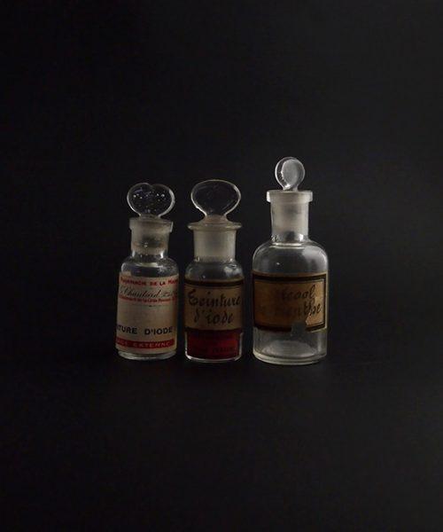 古い薬瓶 3本