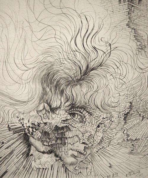 Hans Bellmer 銅版画 『 Les Milles en Feu 』