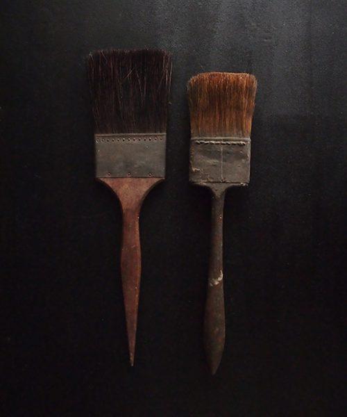 古い平筆 2本