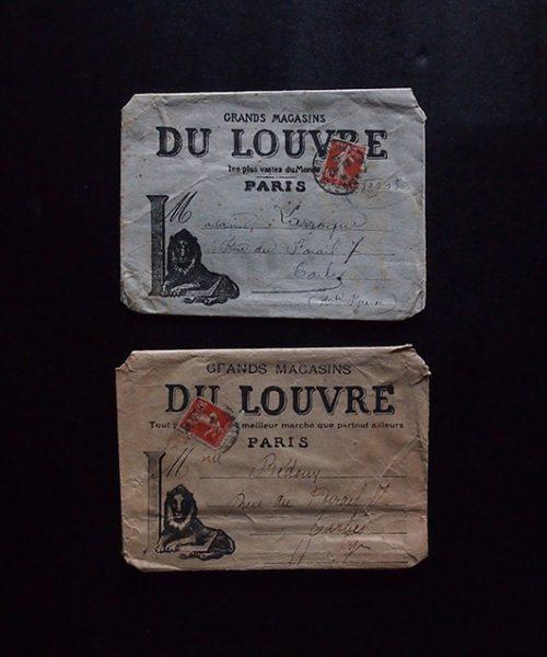 GRANDS MAGASINS DU LOUVRE の封筒 2点