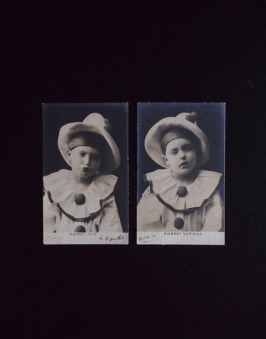 アンヴァンテール 少年ピエロのポスト・カード2枚