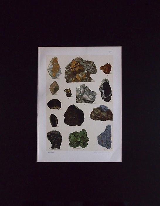 鉱物図版 14  Wolfram,Molybdän,Uran-Verbindungen