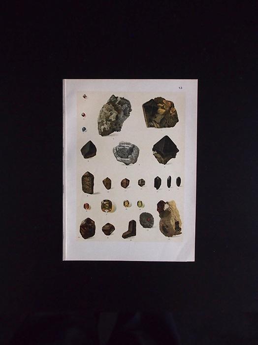 鉱物図版 16  Spinell und Zirkon