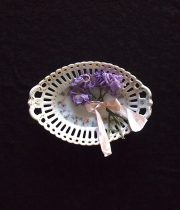 アンヴァンテール パンジー皿とスミレの布花