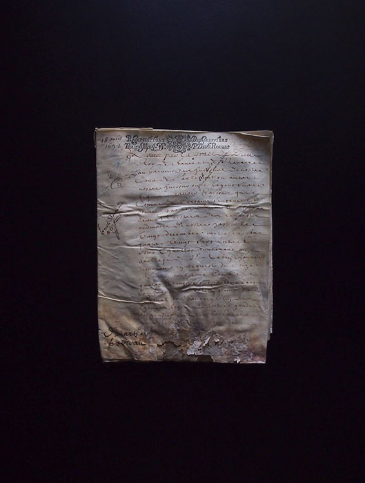 1692年の羊皮紙