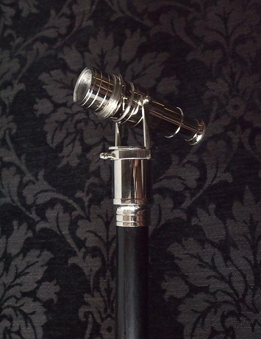 望遠鏡付き杖 ブラック 現行品