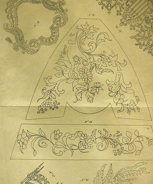刺繍図案 K