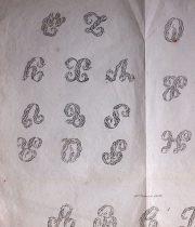 刺繍図案 H