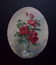 薔薇の板絵