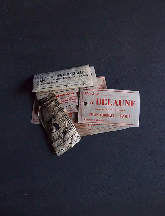 レ・アール パリ中央市場のラベル10枚 A
