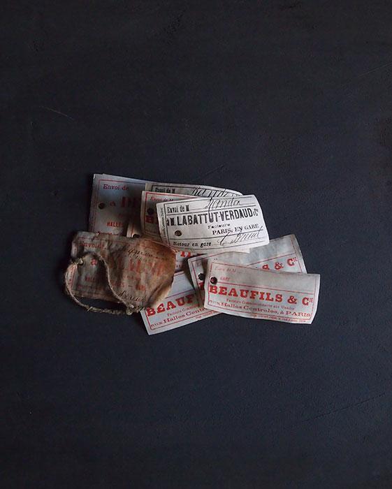 レ・アール パリ中央市場のラベル10枚 B