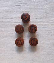 木製顔料ケース 5個