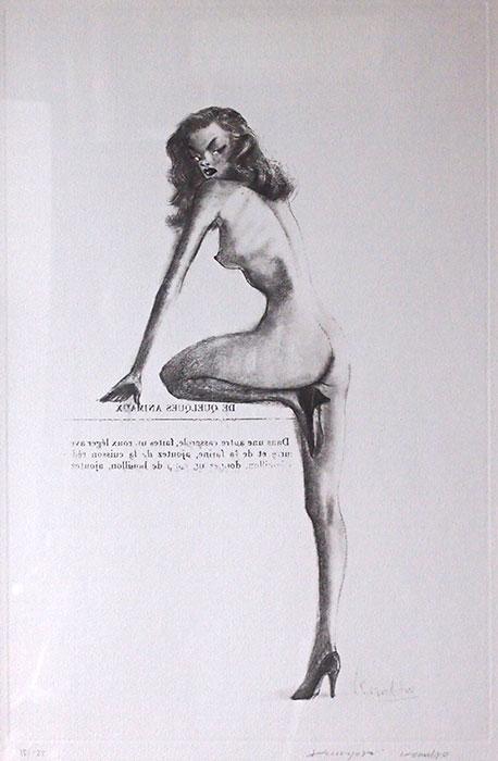 金子國義 銅版画 『 ジュリエット 』