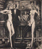 金子國義 銅版画 『 Esquire II 』