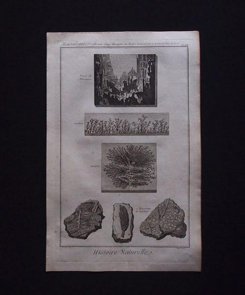 鉱物版画 Histoire Naturelle , Minéralogie 8