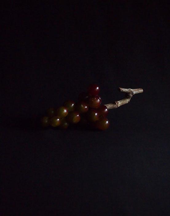 大理石の擬似果物   Les raisins