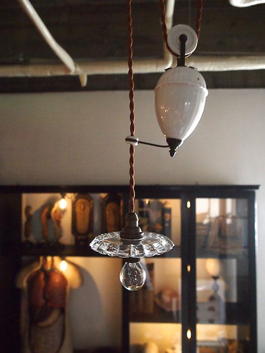 ウエート付き吊り下げガラスシャード・ランプ A