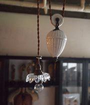 ウエート付き吊り下げガラスシャード・ランプ  B