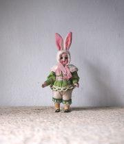 ウサギの着ぐるみビスク・ドール E
